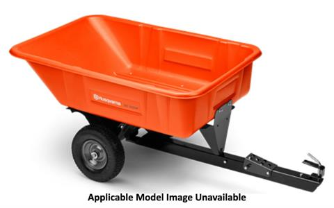 2020 Husqvarna Power Equipment 12.5 Cu. Ft. Poly Swivel Dump Cart in Petersburg, West Virginia