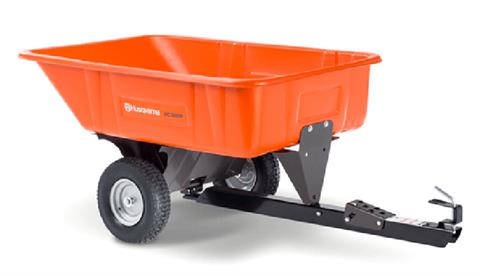 2021 Husqvarna Power Equipment 10 Cu. Ft. Poly Swivel Dump Cart in Petersburg, West Virginia
