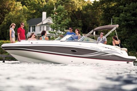 2015 Hurricane SunDeck 2400 IO in Bridgeport, New York
