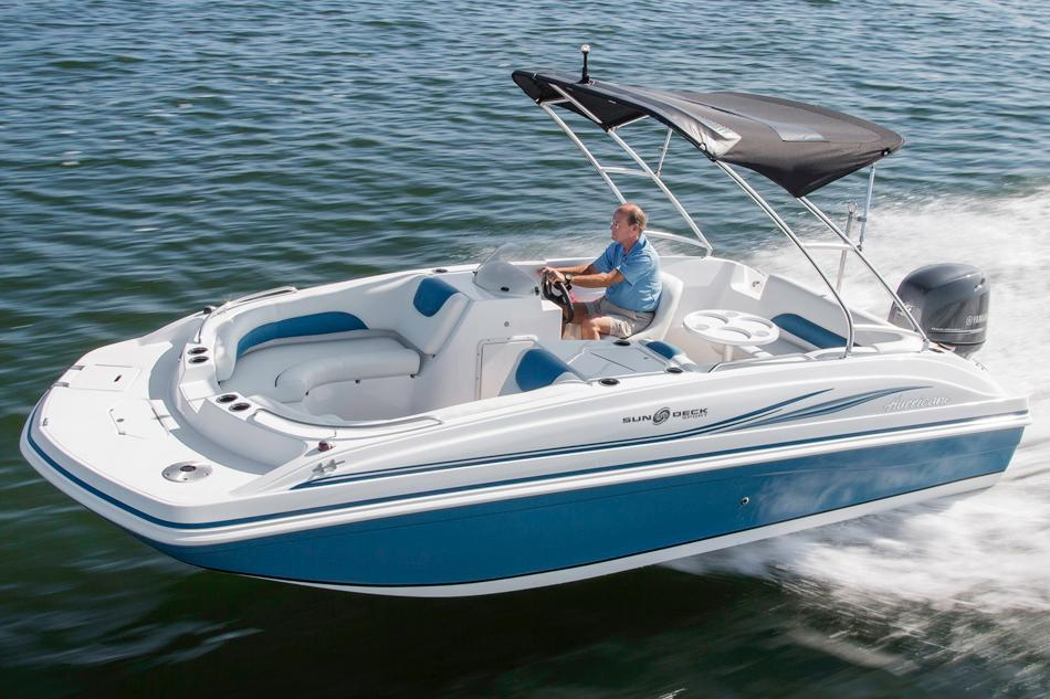 2016 Hurricane SunDeck Sport 188 OB in Bridgeport, New York