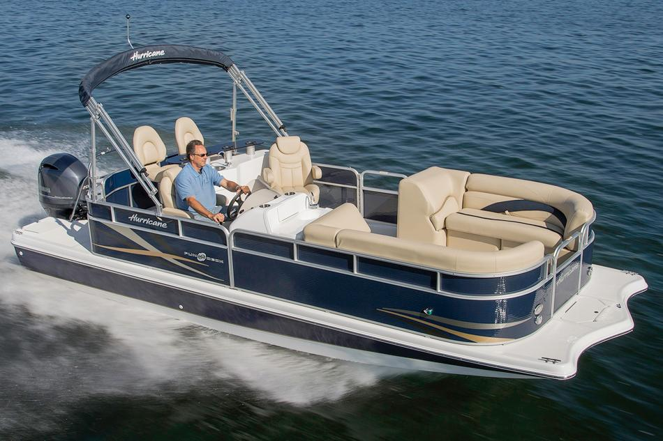 New 2017 Hurricane Fundeck 236 WB OB Power Boats Outboard in