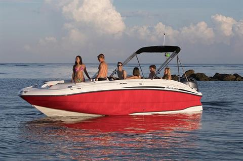 2018 Hurricane SunDeck Sport 220 OB in Kalamazoo, Michigan