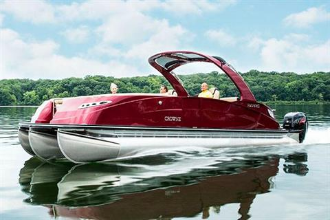 2018 Harris Crowne DL 270 Twin Engine in Cable, Wisconsin