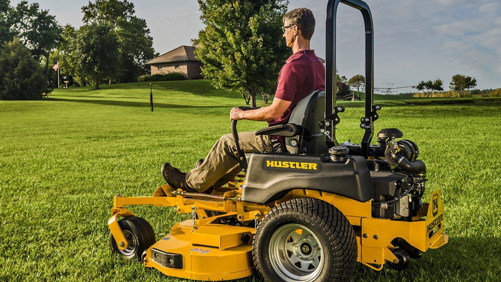 Very common hustler sport lawnmower activity
