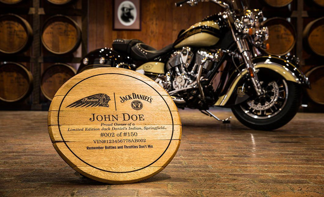 2016 Indian Springfield™ Jack Daniel's® Limited Edition in Caledonia, Michigan