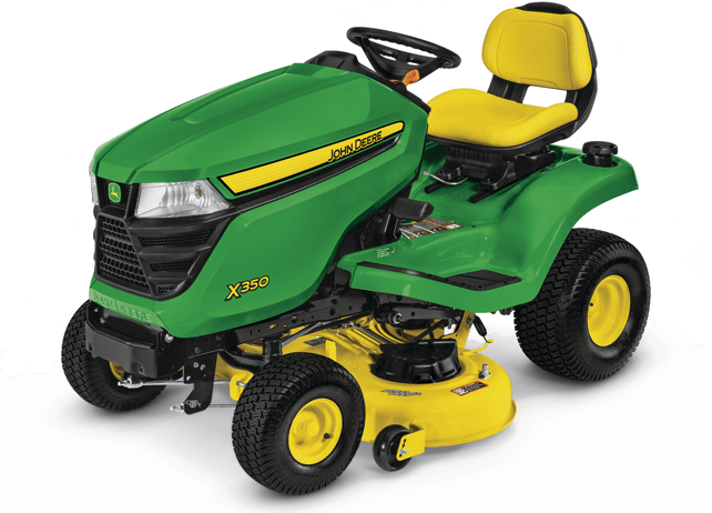 new 2017 john deere x350 tractor with 42 in deck lawn mowers in
