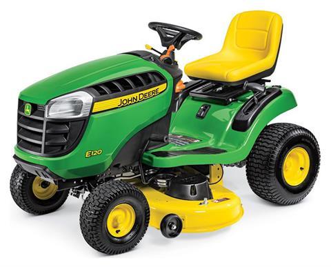 New 2019 John Deere E120 42 In 20 Hp Lawn Mowers Riding