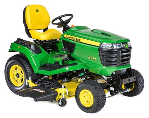 2019 John Deere X734 Signature Series Lawn Tractor in Sparks, Nevada