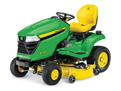 2021 John Deere X384 Select Series 48 in. Deck in Terre Haute, Indiana