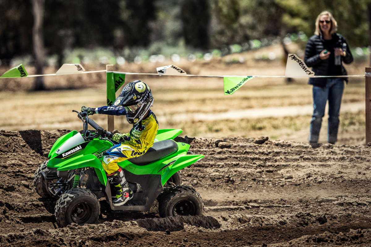 2017 Kawasaki KFX50 in Rock Falls, Illinois