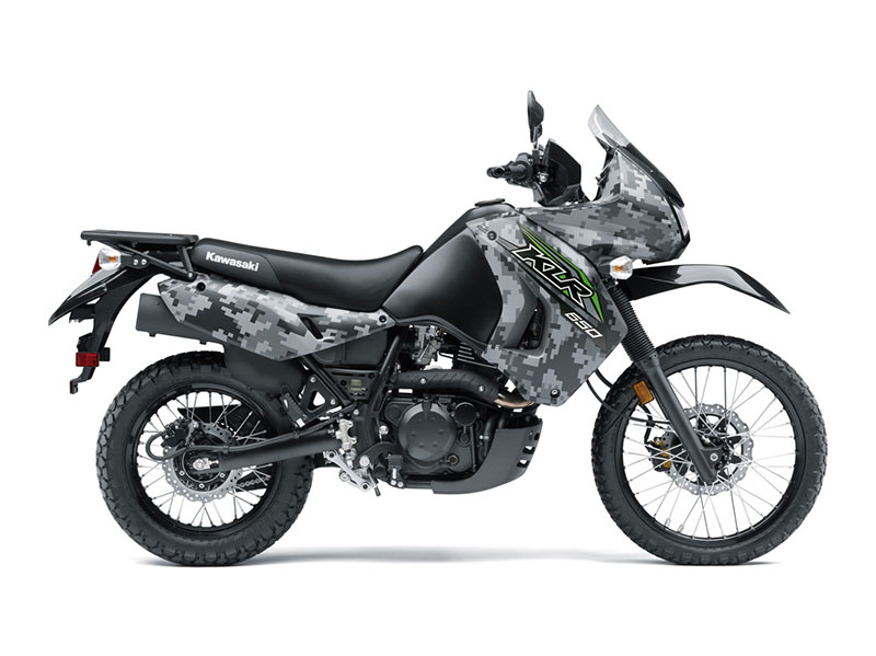2018 Kawasaki KLR 650 Camo in Dimondale, Michigan