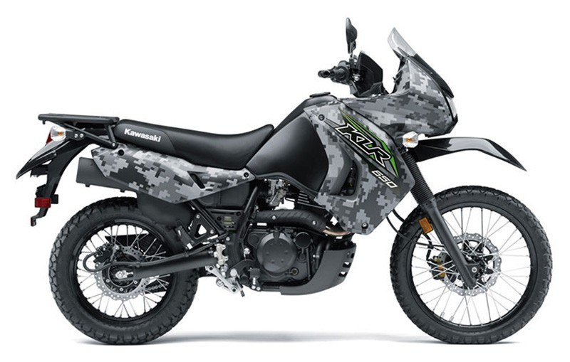 2018 Kawasaki KLR 650 Camo in Hollister, California - Photo 1