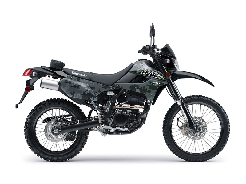 2018 Kawasaki KLX 250 Camo in Paw Paw, Michigan