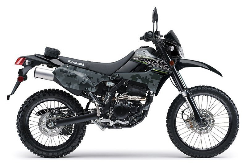 2019 Kawasaki KLX 250 Camo in Oak Creek, Wisconsin - Photo 1