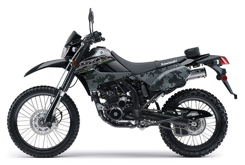 2019 Kawasaki KLX 250 Camo in Oak Creek, Wisconsin - Photo 2