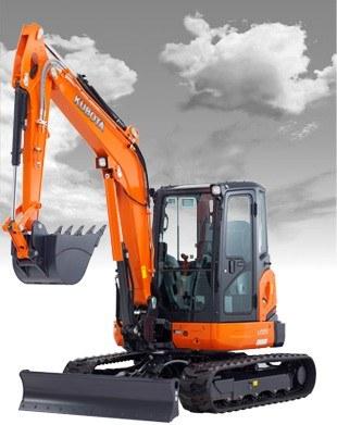 2017 Kubota Tight Tail Swing Compact Excavator with Angle Blad 1