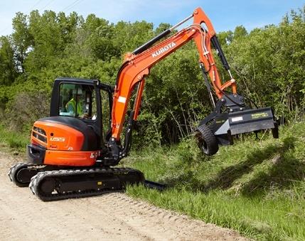 2017 Kubota Tight Tail Swing Compact Excavator with Angle Blad 5