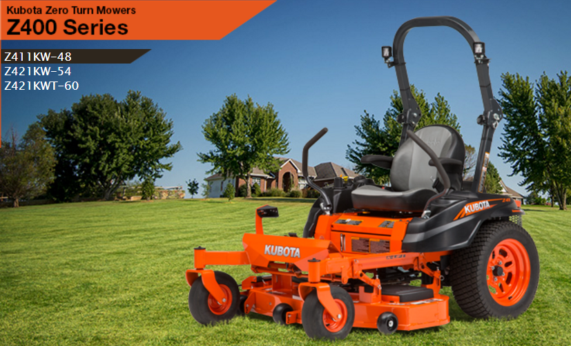2017 Kubota Zero-Turn Mower (Z421KWT-60) in Fairfield, Illinois