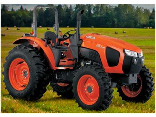 2017 Kubota MId-Size 4WD Tractor with ROPS (M5-111 HD12) in Fairfield, Illinois