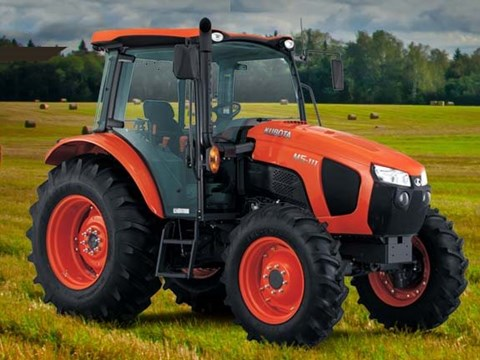 2017 Kubota MId-Size 4WD Tractor with Cab (M5-111 HDC) in Fairfield, Illinois