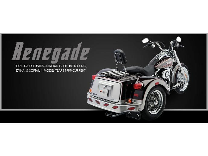 2017 Lehman Trikes/Harley-Davidson Renegade for Dyna Softail in Adams, Massachusetts