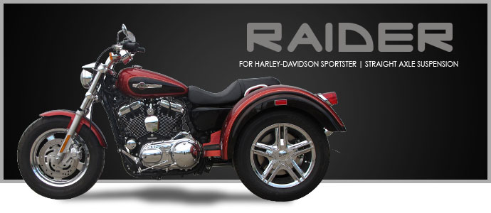 2018 Lehman Trikes/Harley-Davidson Raider for Sportster in Adams, Massachusetts