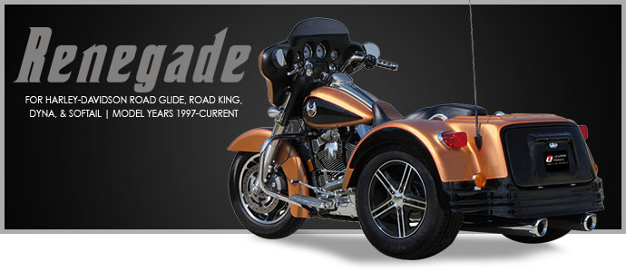 2018 Lehman Trikes/Harley-Davidson Renegade for Dyna Softail in Adams, Massachusetts