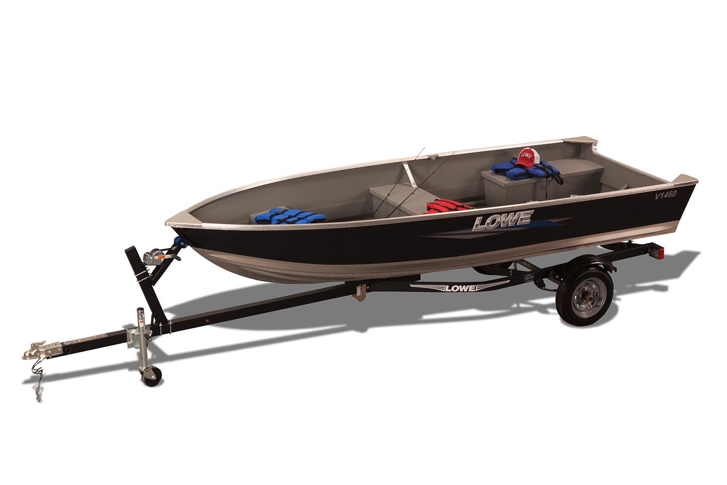 New 2018 Lowe V1460 Utility V Power Boats Outboard in Mount