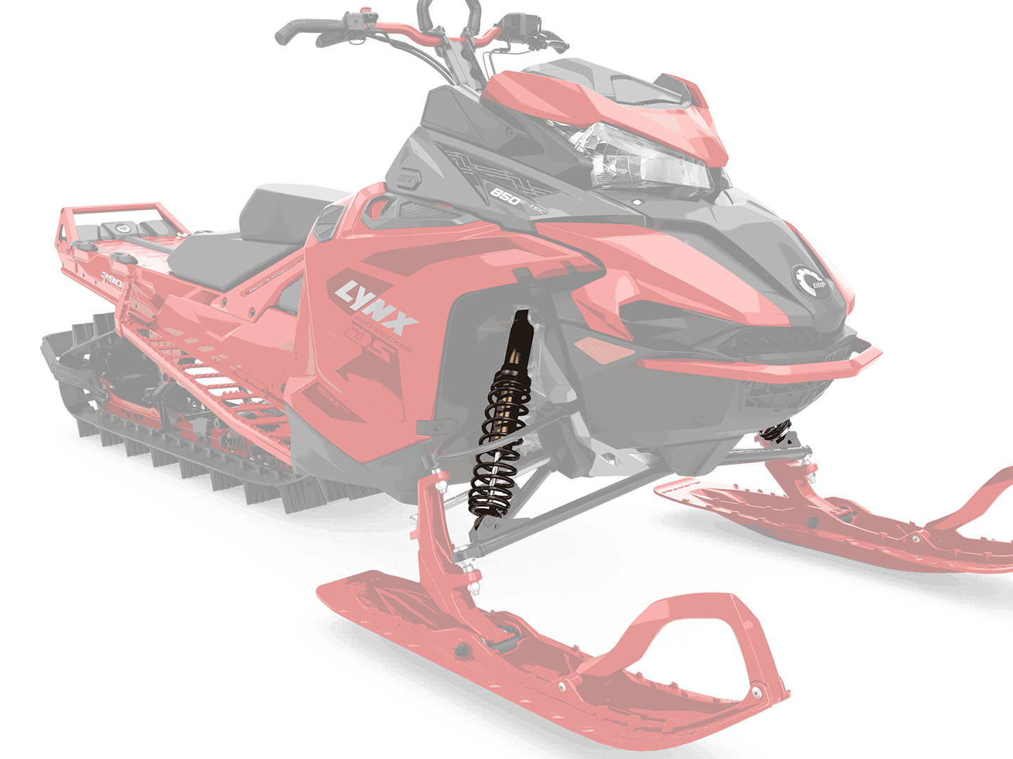 CONTROL IN DEEP SNOW: KYB Kashima shock absorbers - The Kashima coating of KYB shock absorbers on the BoonDocker DS model reduces the internal friction of the shock absorbers, improving the sensitivity of the suspension movement and the handling of the snowmobile. - Photo 10