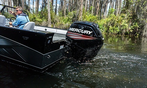 New 2018 Mercury Marine 90 hp Command Thrust FourStroke Boat