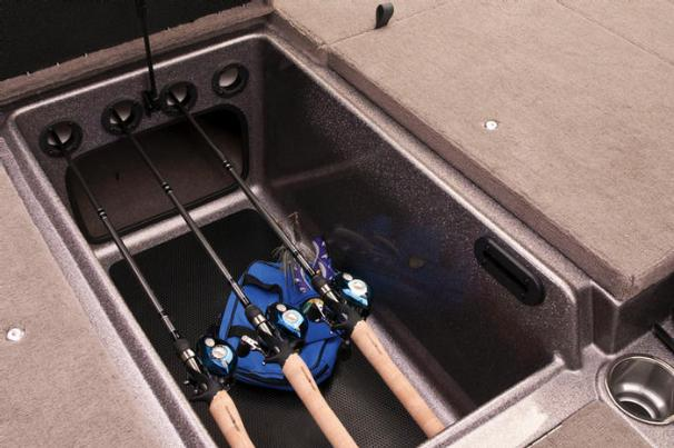 The huge center bow storage compartment also has organizers to help hold rods up to 7-feet (2.13 m) long. - Photo 17
