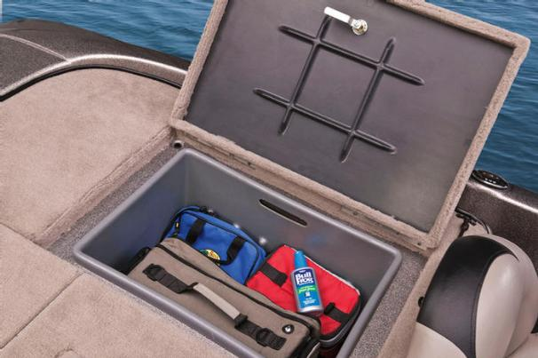 The aft storage compartments have a pull-out liner for the ultimate in convenience. - Photo 19