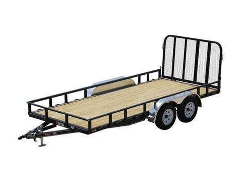 2016 PJ Trailers 83 in. Channel Utility (U8) in Kansas City, Kansas