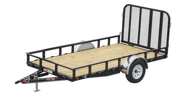 2017 PJ Trailers 77 in. Single Axle Channel Utility (U7) in Kansas City, Kansas