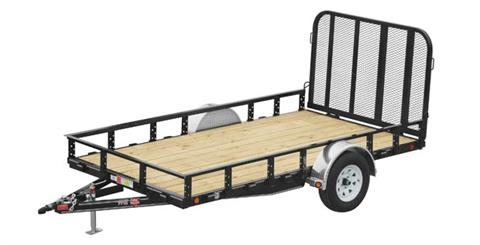 2017 PJ Trailers 77 in. Single Axle Channel Utility (U7) in Elk Grove, California