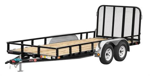 2017 PJ Trailers 77 in. Tandem Axle Channel Utility (UK) in Kansas City, Kansas