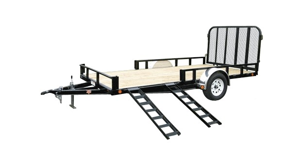 2017 PJ Trailers 83 in. Single Axle Channel Utility (U8) in Elk Grove, California