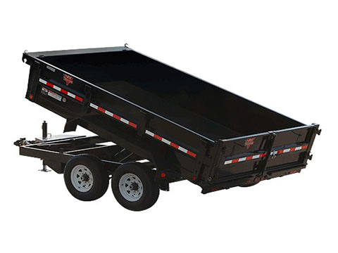 2018 PJ Trailers 83 in. Tandem Axle Dump (D7) in Hillsboro, Wisconsin