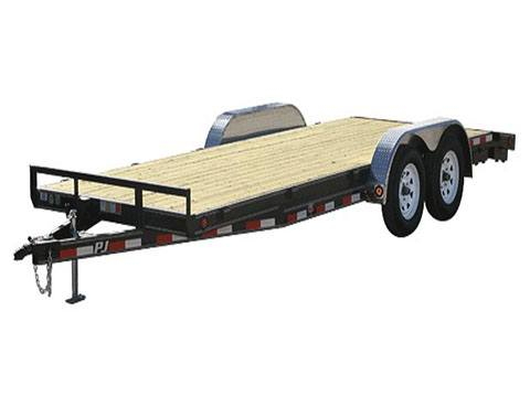 2019 PJ Trailers 5 in. Channel Carhauler (C5) 16 ft. in Hillsboro, Wisconsin