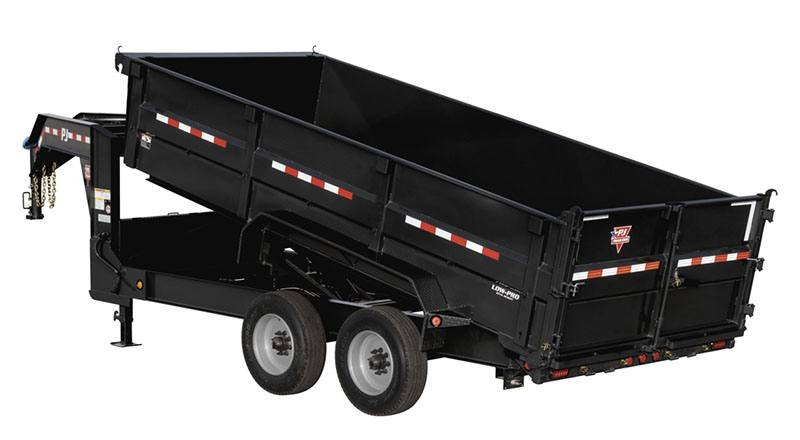 2019 PJ Trailers HD Low-Pro Dump (DE) 16 ft. in Hillsboro, Wisconsin