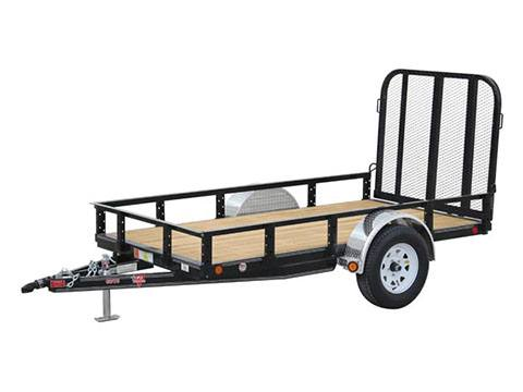 2019 PJ Trailers 60 in. Single Axle Channel Utility (U6) 8 ft. in Hillsboro, Wisconsin