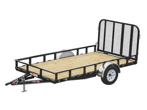 2019 PJ Trailers 77 in. Single Axle Channel Utility (U7) 8 ft. in Hillsboro, Wisconsin