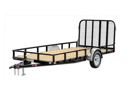 2019 PJ Trailers 83 in. Single Axle Channel Utility (U8) 8 ft. in Hillsboro, Wisconsin
