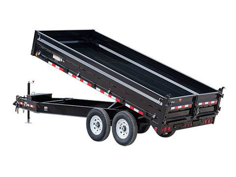 2019 PJ Trailers 10 in. I-Beam Deckover Dump (DT) 14 ft. in Hillsboro, Wisconsin
