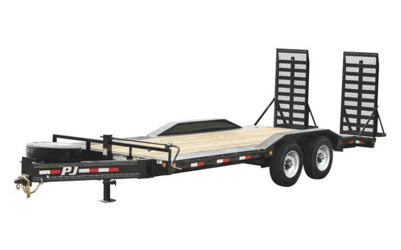 2020 PJ Trailers 10 in. Pro-Beam Super-Wide Equipment (H7) 24 ft. in Hillsboro, Wisconsin