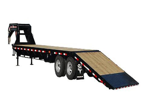 2020 PJ Trailers Flatdeck with Hydraulic Dove (FY) 32 ft. in Hillsboro, Wisconsin