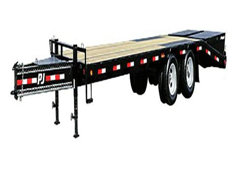 2019 PJ Trailers Low-Pro Flatdeck with Duals (LD) 22 ft. in Kansas City, Kansas