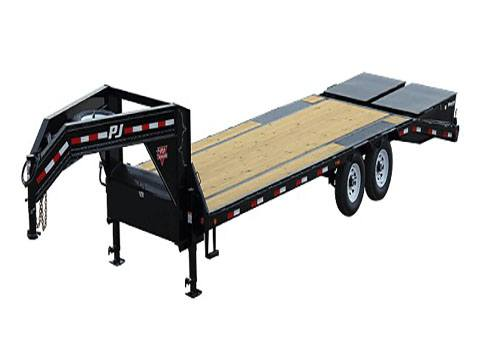 2020 PJ Trailers Low-Pro Flatdeck with Singles (LS) 34 ft. in Hillsboro, Wisconsin - Photo 1