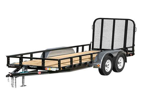 2019 PJ Trailers 60 in. Tandem Axle Channel Utility (UC) 12 ft. in Hillsboro, Wisconsin