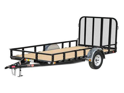 2019 PJ Trailers 72 in. Single Axle Channel Utility (U2) 10 ft. in Hillsboro, Wisconsin